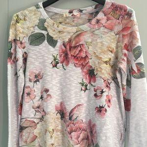 Gaze floral light knit top